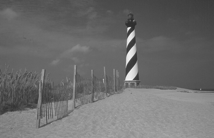 Hatteras lighthouse was moved in 1999.