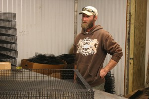 Pat Leonard building gear to gold ever-growing shellfish population.