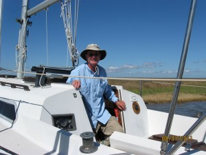Zan Monroe of New Bern tracked down its sailboat, blown 75 miles away.
