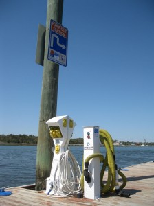 Boaters in No Discharge Zone waters will be on the lookout for pump-outstations such as this one at Joyner Marina on the Intracoastal Waterway at Carolina Beach.