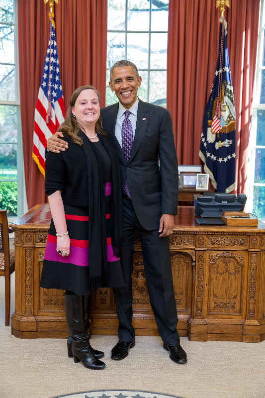 Jessica Maher spent six years working in the White House following her 2004 Knauss fellowship.