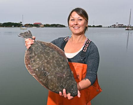 Theresa Ray with fish