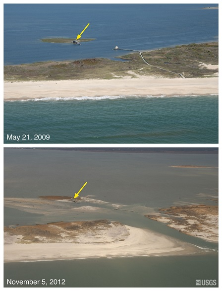 Sandy images before/after storm