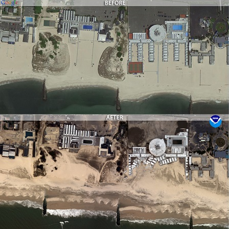 Long Beach before/after Sandy