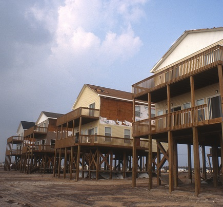 Homes on Topsail Beach.