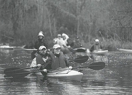 kayakers on trail