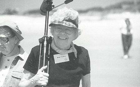Betty Poulton on barrier island
