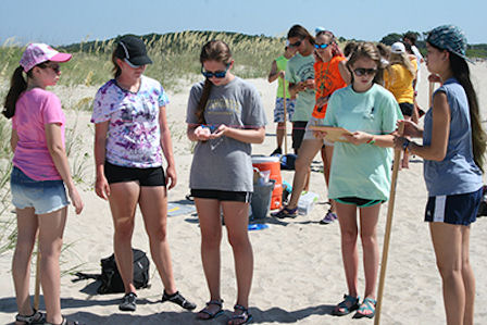 Marine Quest summer campers