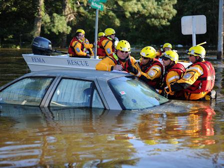 FEMA's rescue team in Lumberton