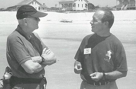 Walter Clark during barrier island trip
