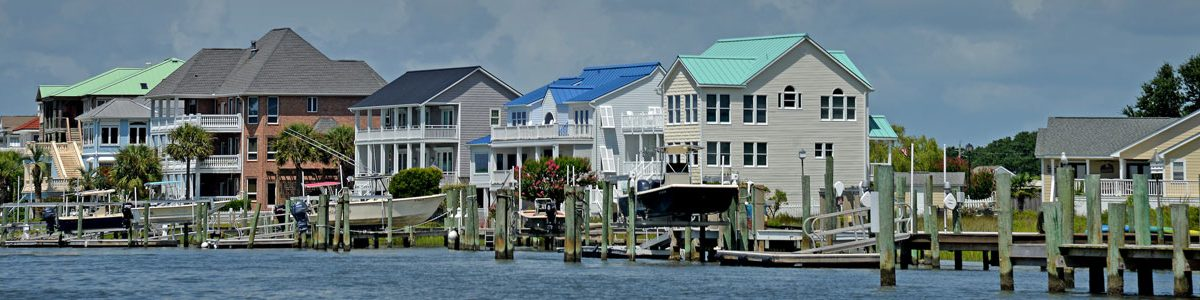 Houses on the waterfront