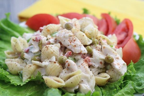 fish flake and macroni salad