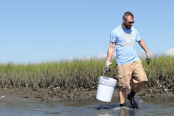 Froelich seeking oyster samples
