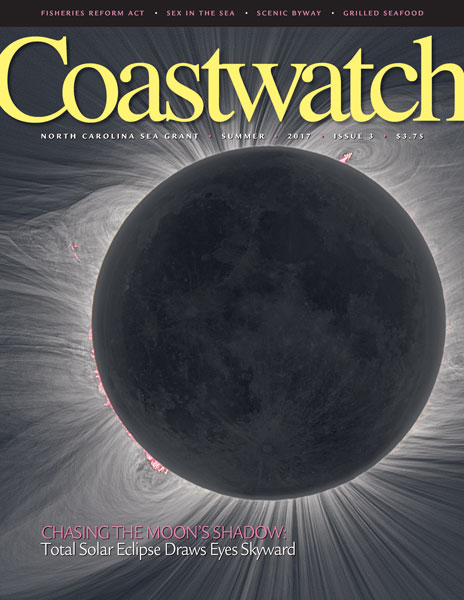 Cover of Summer 2017 magazine with picture of total solar eclipse