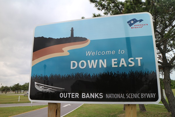 Down East welcome sign