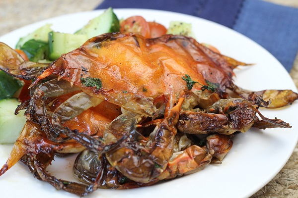 Grilled Soft-Shell Crabs