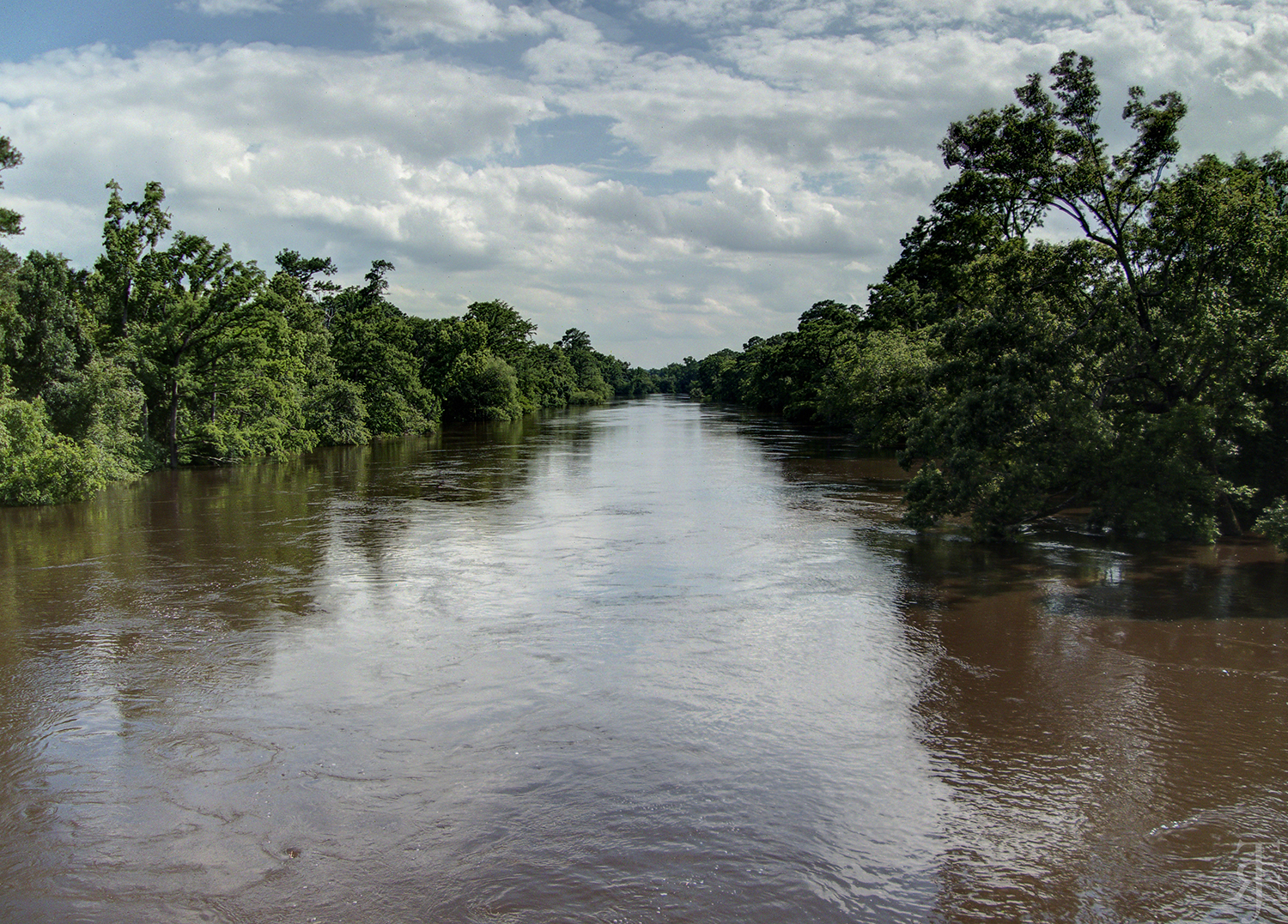 A view of the Neuse River from N.C. Highway 581 in Goldsboro, after heavy rains.