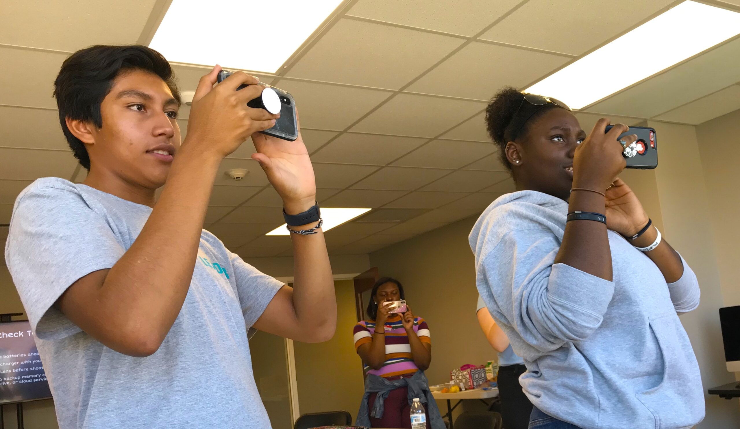 High school students at a workshop for youth who survived Florence. Photograph courtesy of Rose Hoban.