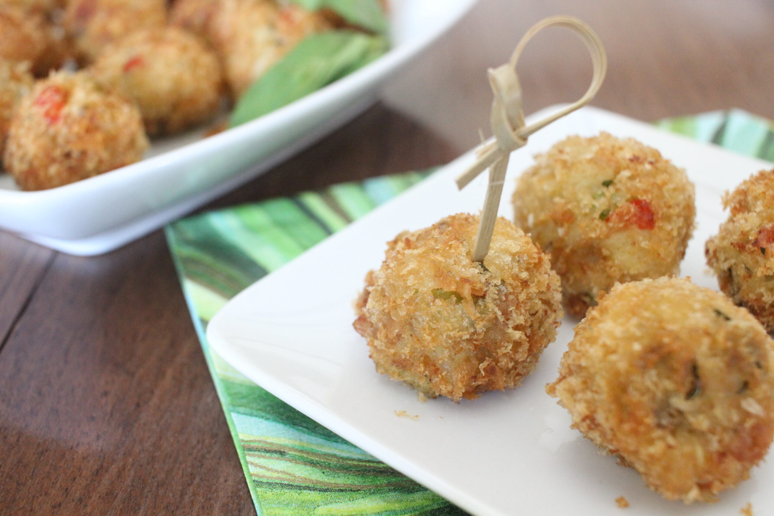Crab Cake Appetizers with Fresh Tarragon, courtesy of Vanda Lewis.