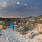 Tents among dunes