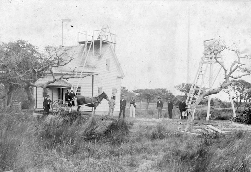 The Hatteras Weather Bureau station. From the H. H. Brimley Collection.