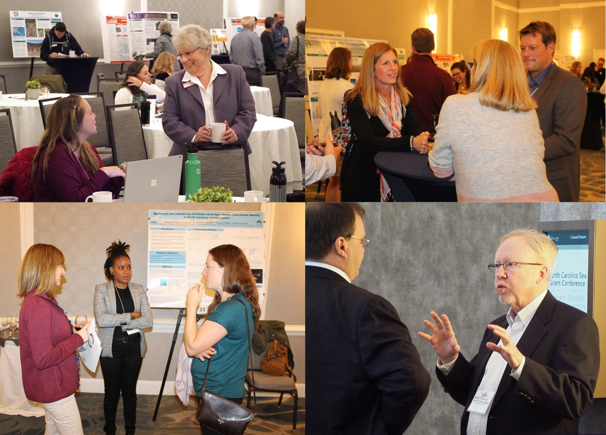 Day one of the Coastal Conference offered many opportunities for networking and sharing of ideas.