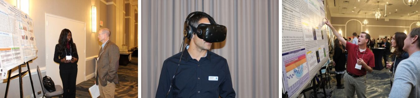 The agenda included a poster session and even a virtual reality demonstration.