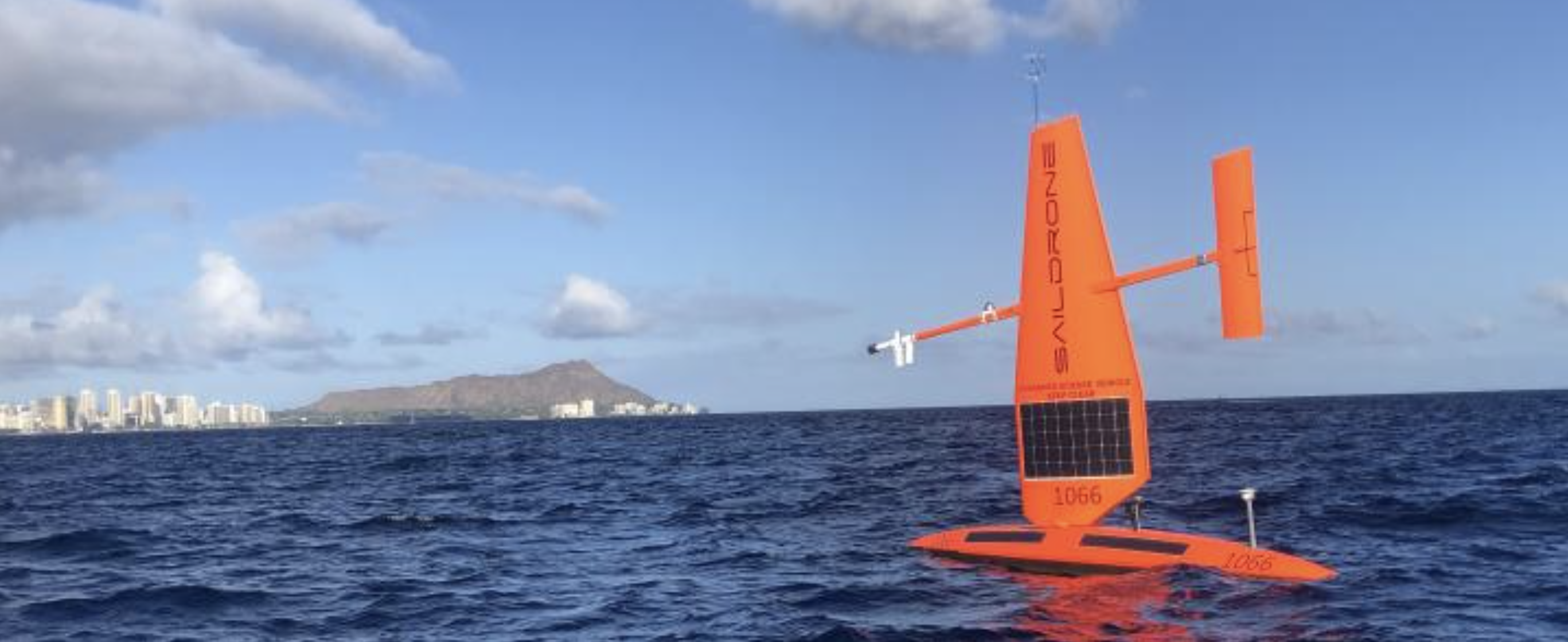 Saildrone (an autonomous sailing drone) working to improve the Tropical Pacific Observing System (Source: NOAA PMEL)