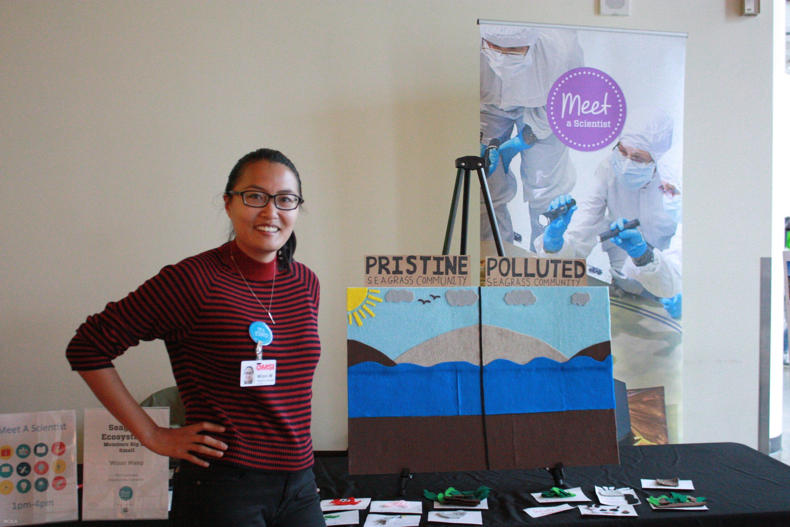 "Lu Wang participates in ""Meet a Scientist"" outreach event"