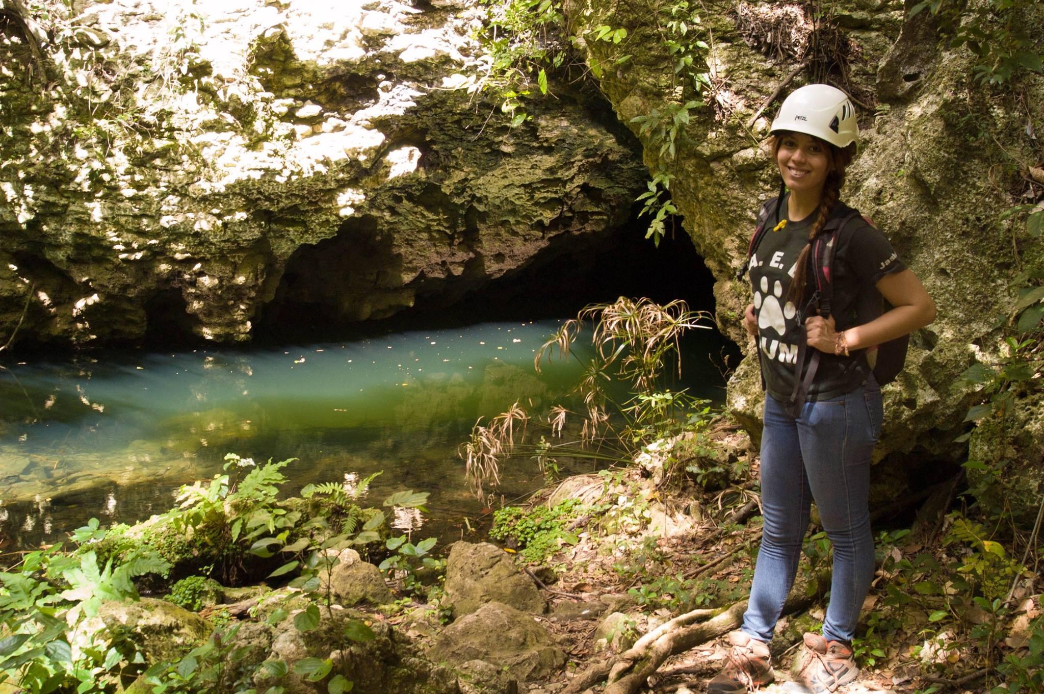 Jashira M. Torres Pabón, on a caving educational tour.