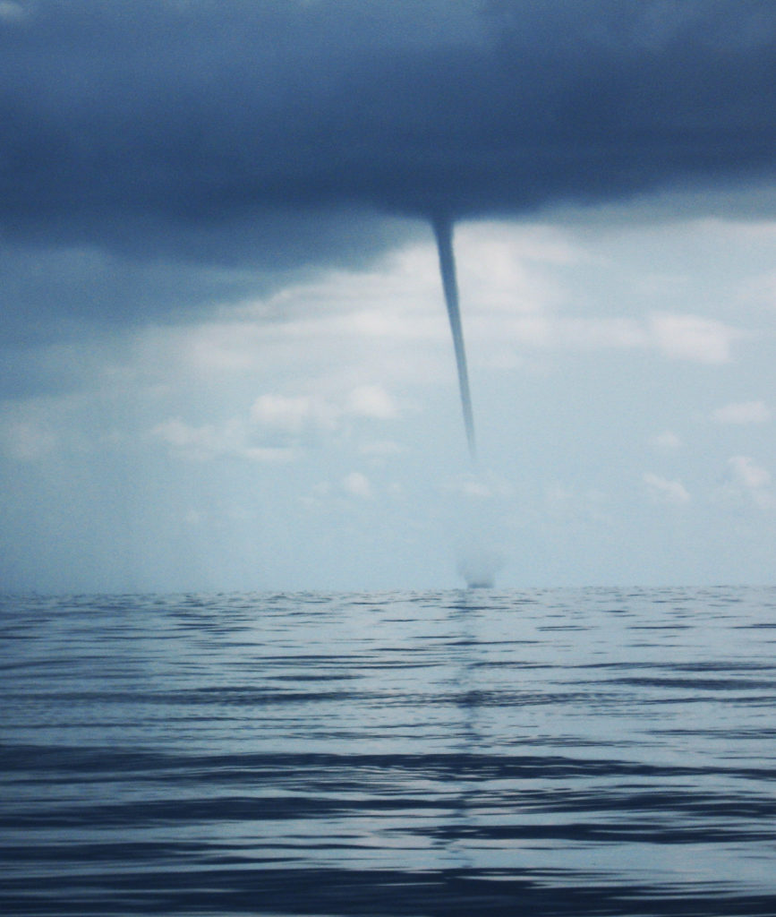 Water spout in the Gulf of Mexico, 2007. Photo courtesy NOAA