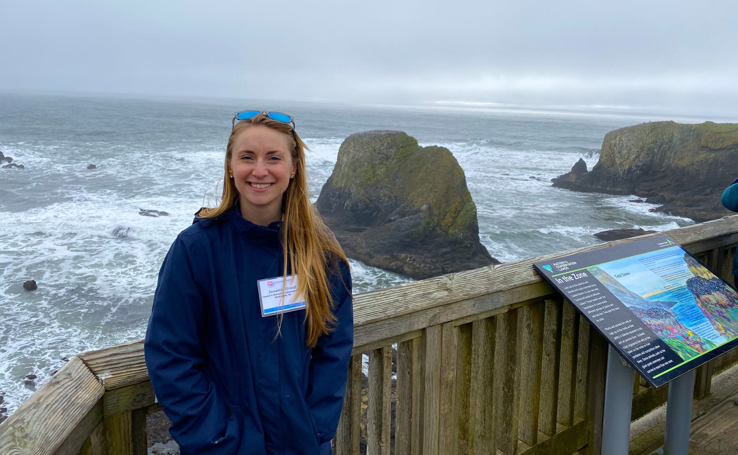 Jessie Straub at the Yaquina Head Marine Garden in Oregon