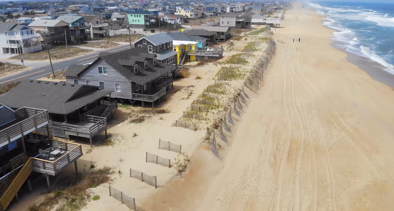 Drone picture of Kitty Hawk, North Carolina