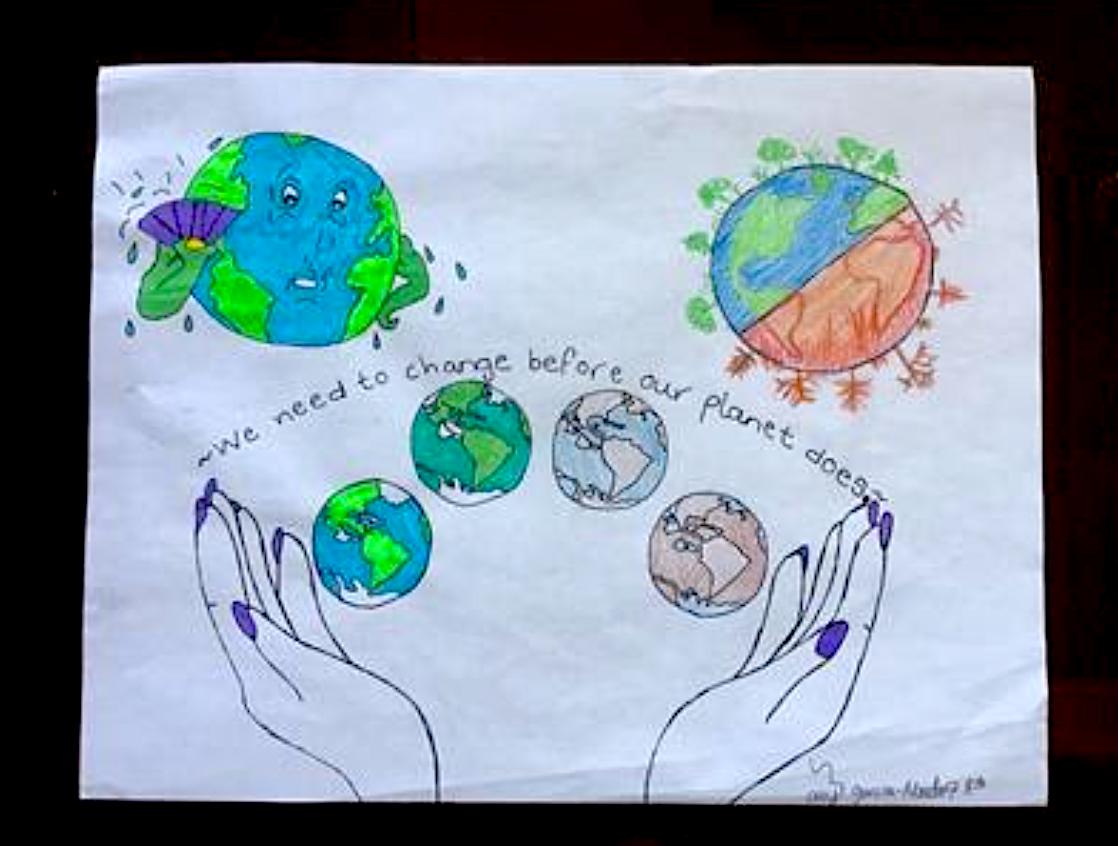 Middle schooler Ally Garcia Mendez's award-winning artwork