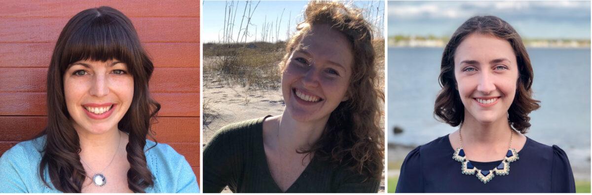 Image: UNCW's Kara E. Yopak (left), with co-authors Emily Peele (center) and Krista Laforest (right).