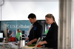 Chef Justin Lachine and Johanna Lachine. Photo by: E-Ching Lee