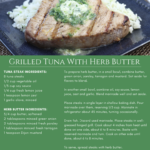 Grilled Tuna with Herb Butter recipe
