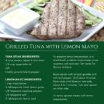 Grilled Tuna with Lemon-Mayonnaise recipe