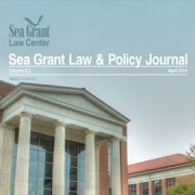 Cover of Sea Grant Law and Policy Journal, April 2014