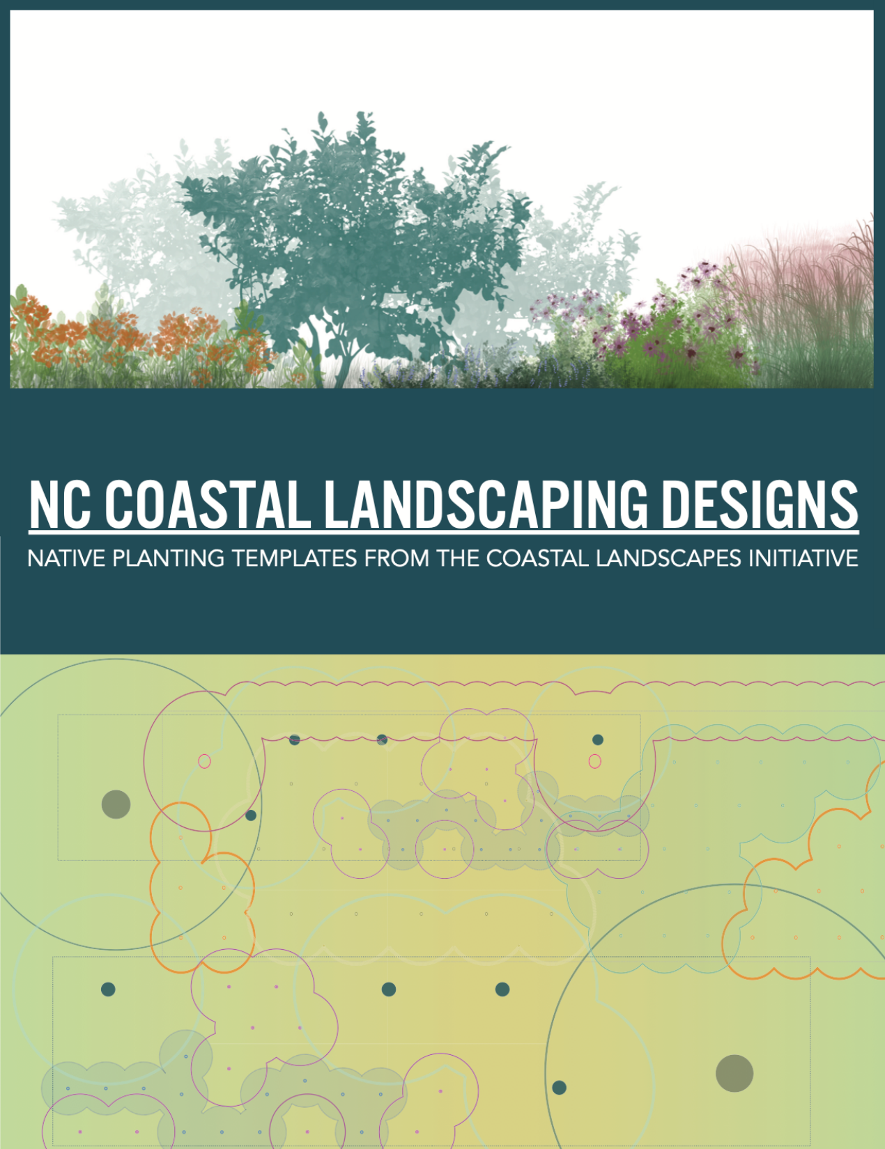 An image of the front cover of the NC Coastal Landscaping Design series