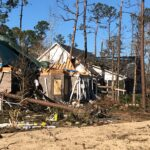A powerful tornado caused severe damage to homes in the Ocean Ridge Plantation neighborhood in Brunswick County on Feb. 15. Credit: NWS