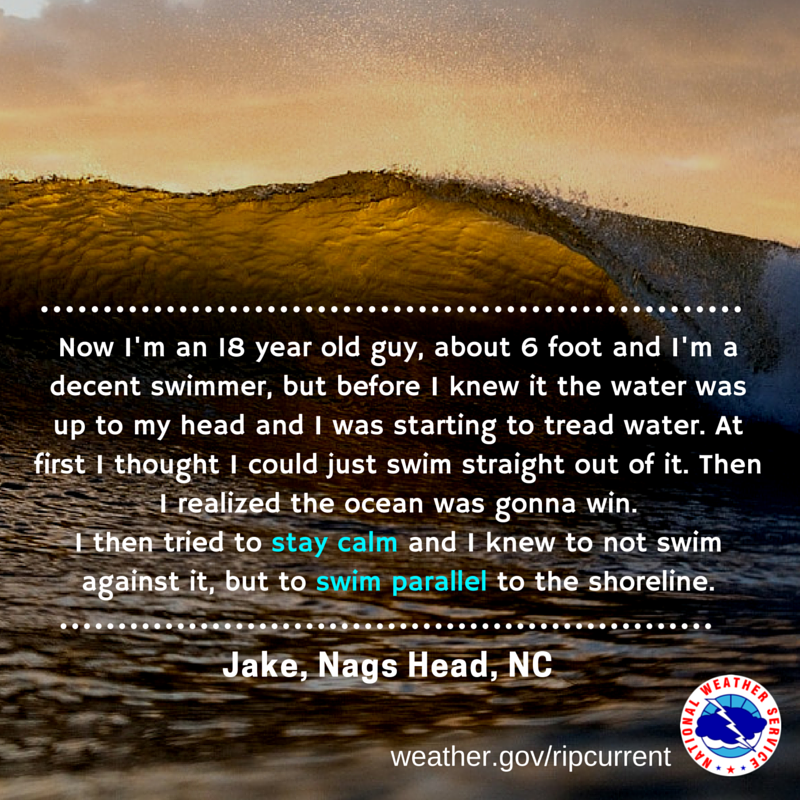 Quote from a rip current survivor