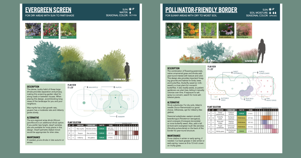 Examples of landscaping design templates