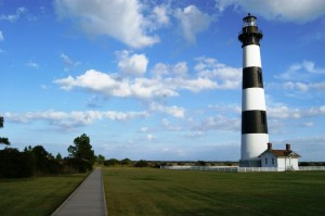 Bodie Island Lighthouse and boardwalk
