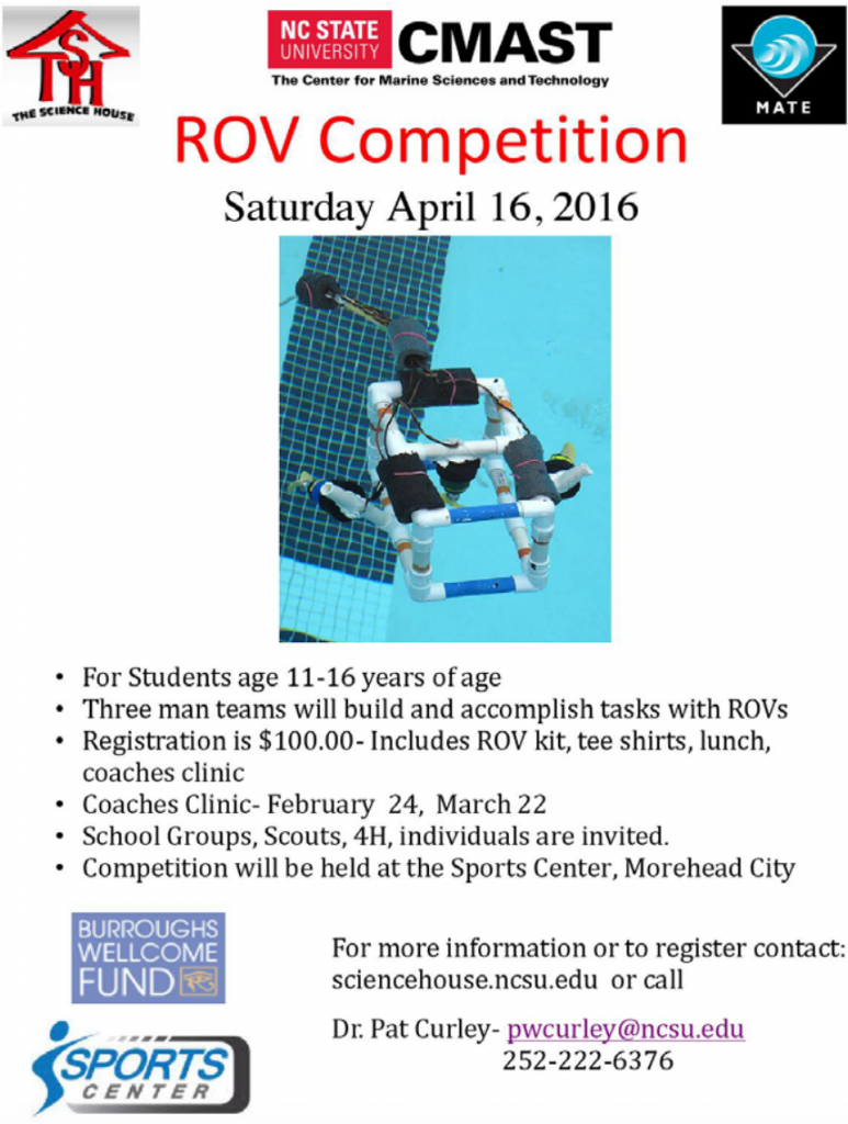 ROV competition flyer