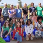 Group photo of girl scouts and resarchers