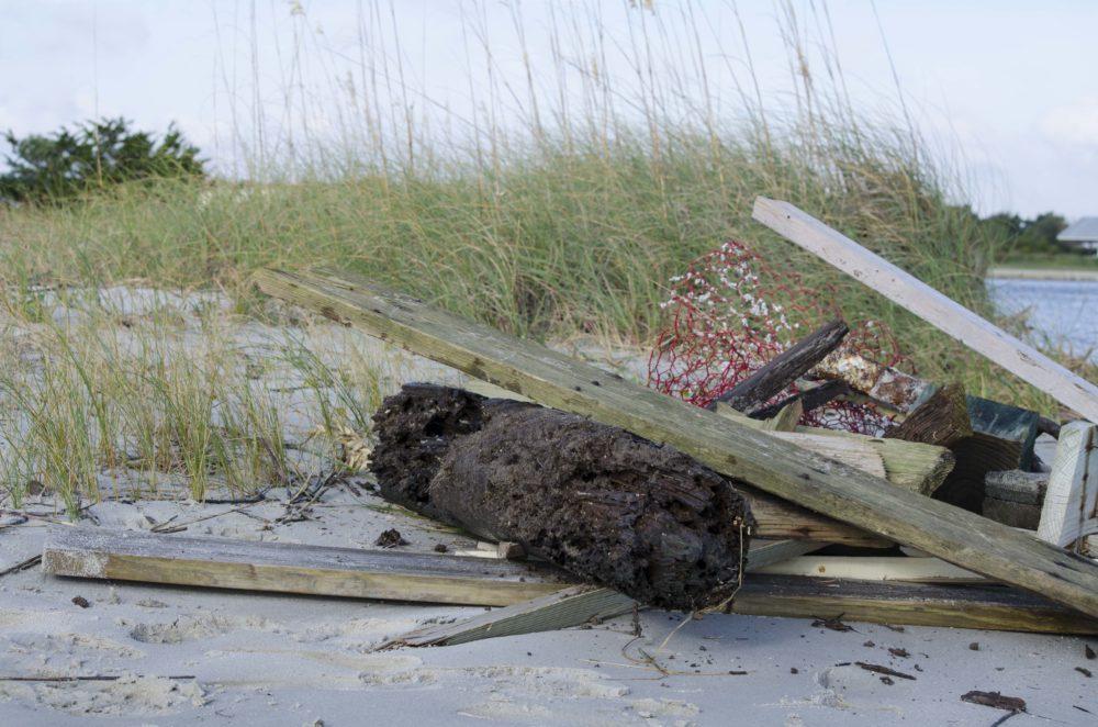Marine debris.