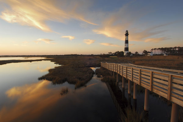 Bodie Island lighthouse. Courtesy Visit NC
