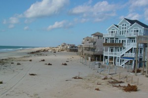 Beachfront buildings along the Outer Banks, NC