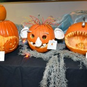 Carved pumpkins at the N.C. Aquarium on Roanoke Island.